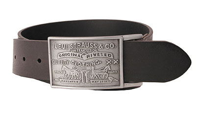 Levis Large Buckle leather belt - Black (11LV0253)