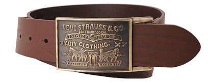 Levis Large Buckle leather belt - Brown (11LV0253)