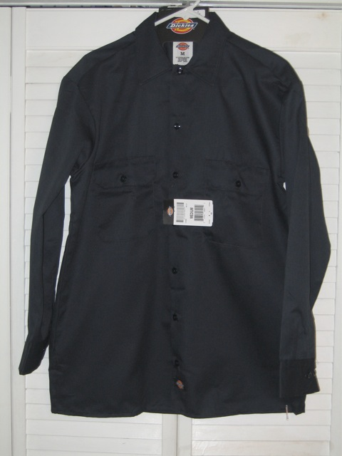 Dickies Long Sleeve Shirt (574) - Navy