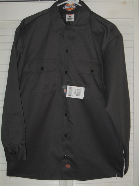 Dickies Long Sleeve Shirt (574) - Charcoal