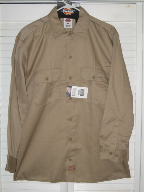 Dickies Long Sleeve Shirt (574) - Khaki