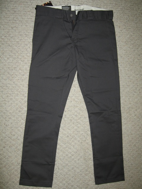 Dickies Skinny Straight Work Pant - Charcoal