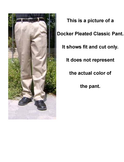 Dockers Pleated Classic : Navy Blue