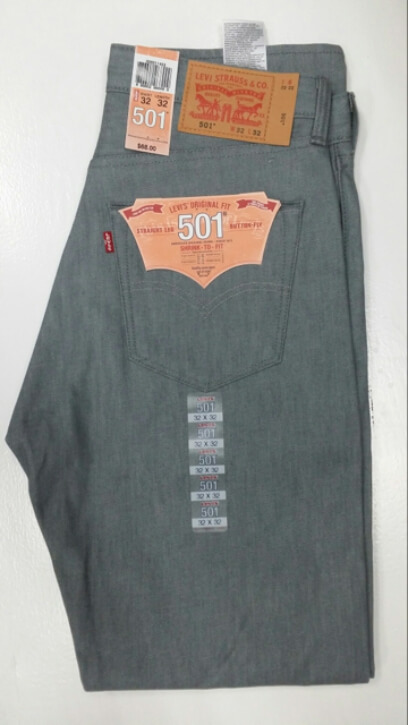 Levis 501 Jeans - Silver Rigid - Shrink-To-Fit (1403)
