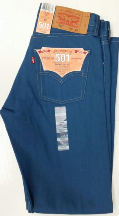 Levis 501 Jeans - Blue Black Fill - Shrink-To-Fit (1435)