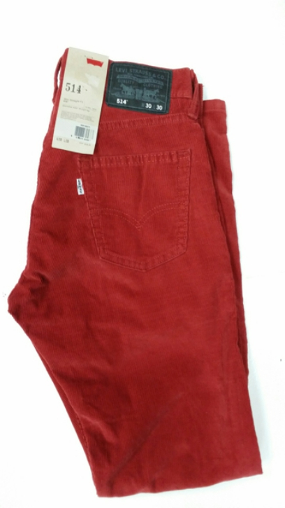 Levis 514 Jeans - Cords Red (0371)