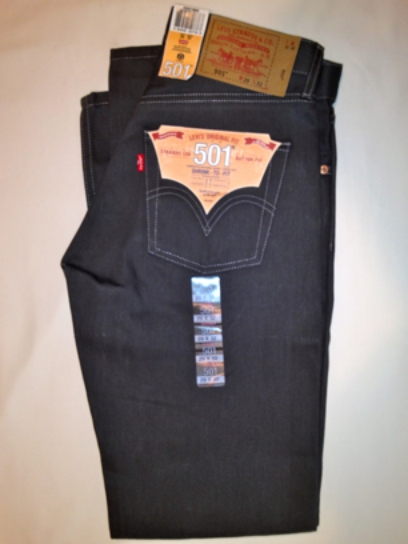 Levis 501 Jeans - Dark Grey - Shrink-To-Fit