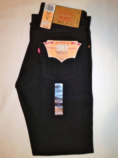 Levis 501 Jeans - Chocolate Black - Shrink-To-Fit (1163)