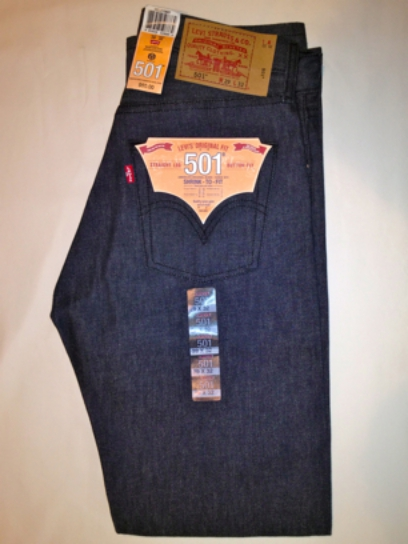 Levis 501 Jeans - Charcoal - Shrink-To-Fit (0987)