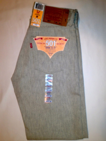 Levis 501 Jeans - Natural Rigid - Shrink-To-Fit (0989)