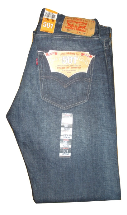 Levis 501 Jeans - Anchor (2501) - Click Image to Close