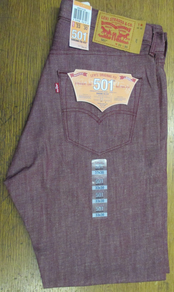 Levis 501 Jeans - Marbury - Shrink-To-Fit (2130) WHITE OAK