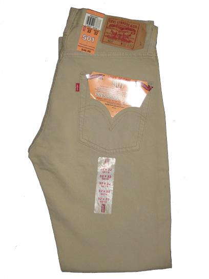 Levis 501 Jeans Dyed Light Khaki 45 99 Levis 501