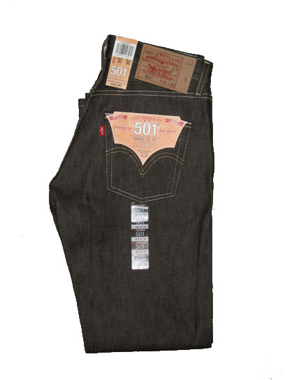 Levis 501 Jeans - Brown Rigid - Shrink-To-Fit (0633)