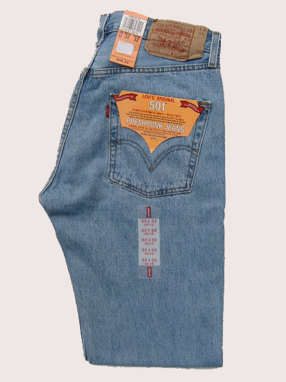 Levis 501 Jeans - Light Stonewash