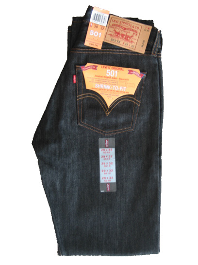 Levis 501 Jeans - Black Shrink-To-Fit (0226)