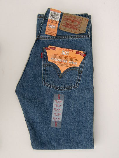 Levis 501 Jeans - Regular Stonewash - Click Image to Close