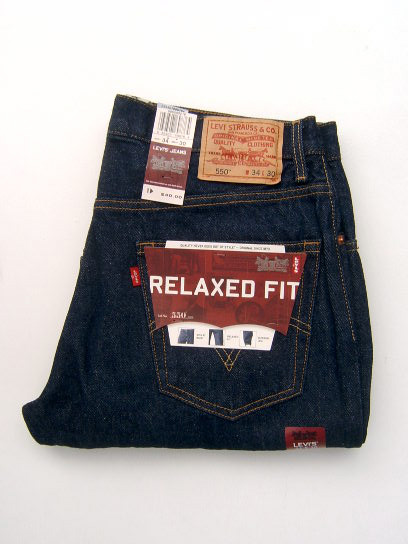 Levis 550 Jeans - Dark Denim