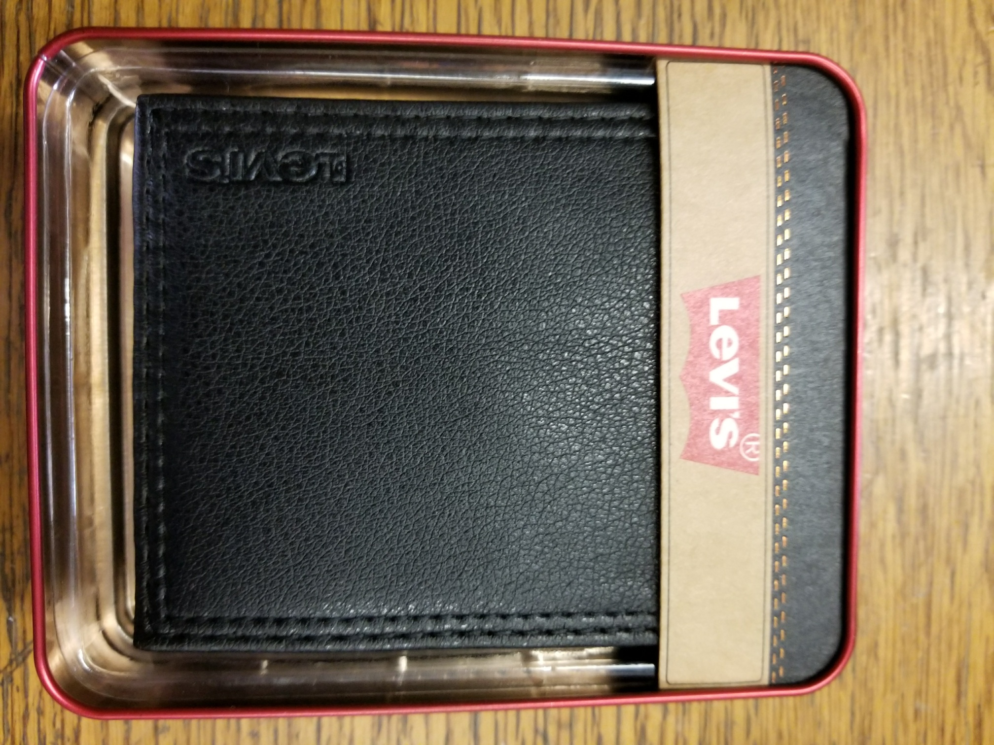 Levi's Leather Wallet Billfold - BLACK (31LV1344)