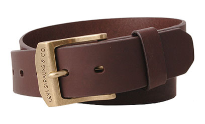 Levis Mens leather belt - Brown (11LV0204)