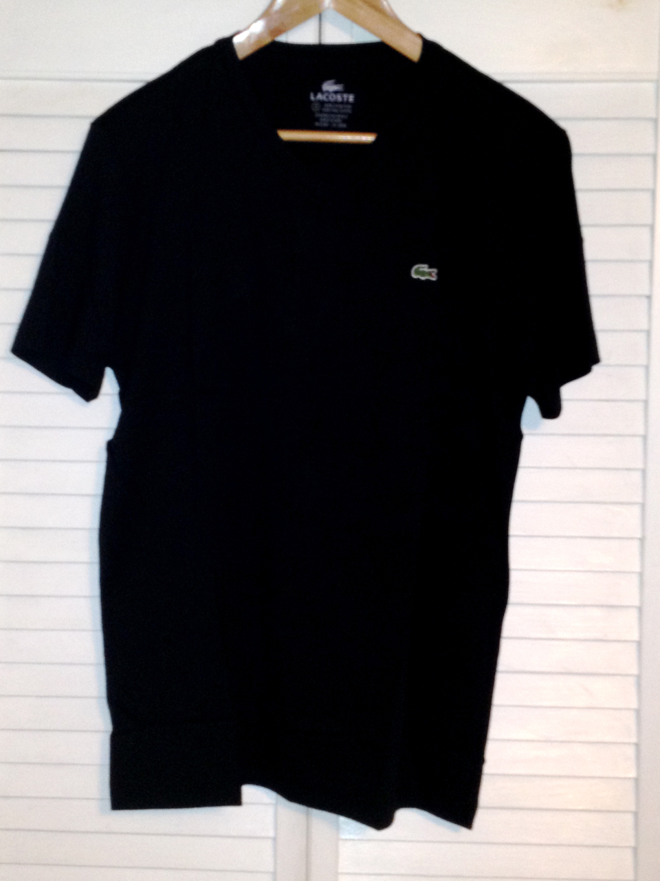 Lacoste Mens V Neck T Shirt - Noir (Black)