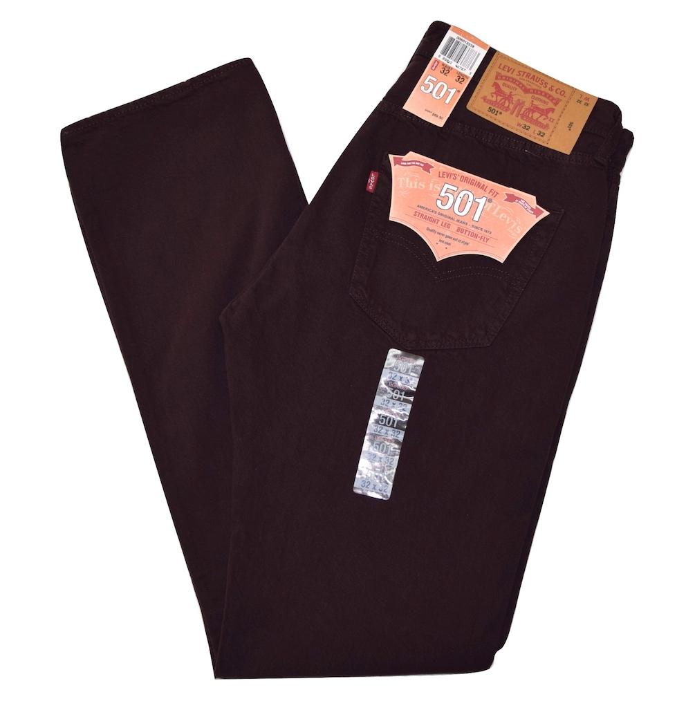 Levi/'s 501 Men/'s Original Fit Straight Leg Jeans Button Fly Black 501-5808