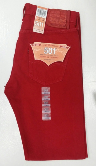 Levis 501 Jeans - Jester Red (1584)