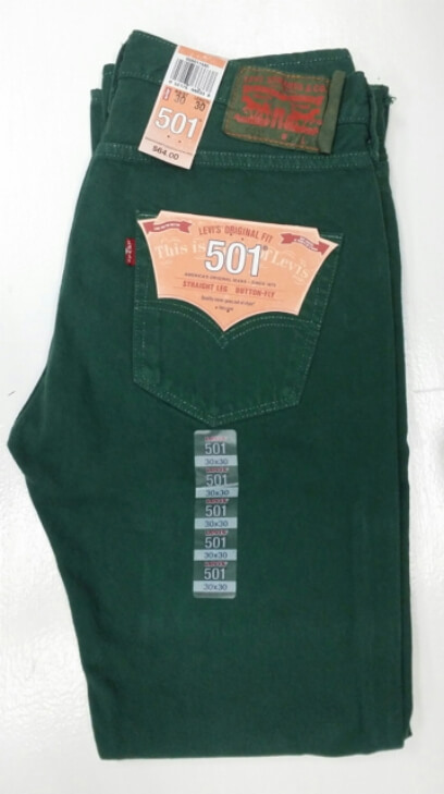 Levis 501 Jeans - Green
