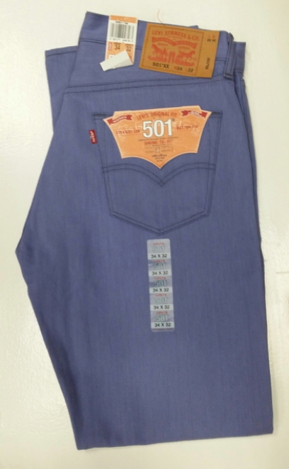 Levis 501 Jeans - Powder Rigid - Shrink-To-Fit (1786)