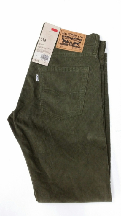 Levis 514 Jeans - Cords Olive Green (0509)