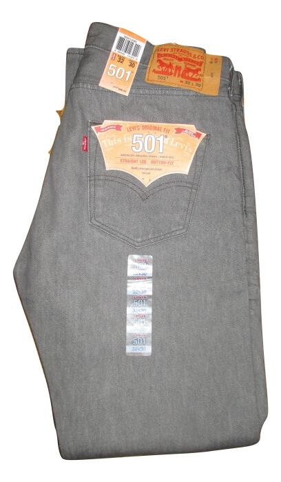 Levis 501 Jeans Grey Rigid Shrink To Fit 0631 4599 Levis