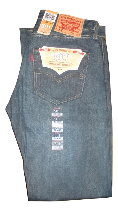Levis 501 Jeans - Glassy River (1320) - Click Image to Close