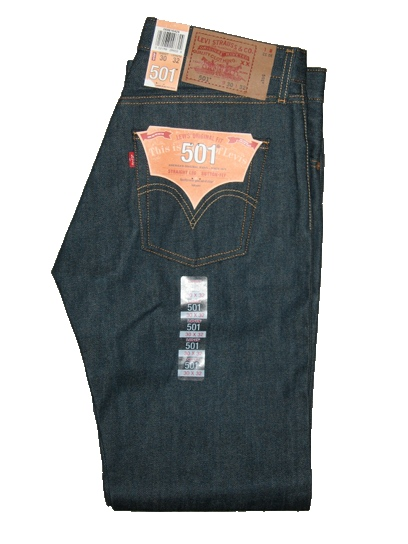 Levis 501 Jeans - Verde Rigid - Shrink-To-Fit (0986)