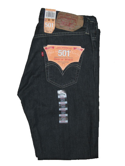Levis 501 Jeans - Clean Rigid (0536)