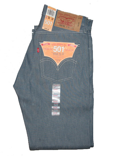 Levis 501 Jeans - Shrink To Fit - Sky Blue (0542)