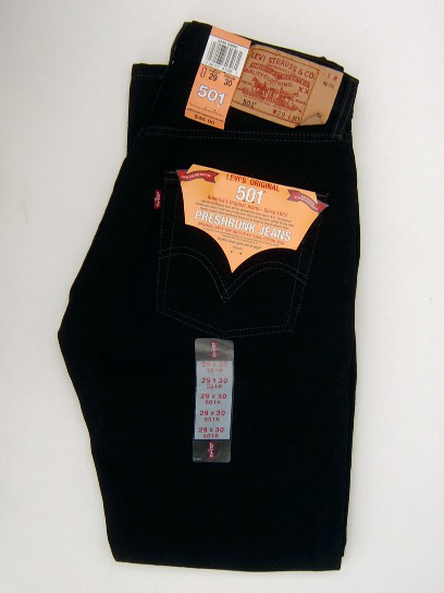 Levis 501 Jeans Black Black 44 99 Levis 501