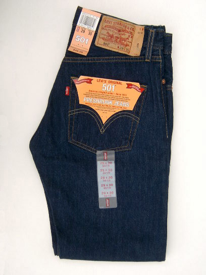 Levis 501 Jeans - Dark Denim (Rinsed Blue)
