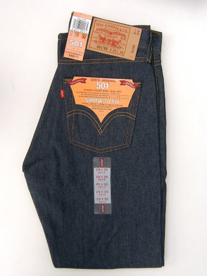 Levis 501 Jeans - Blue Shrink-To-Fit (0000)