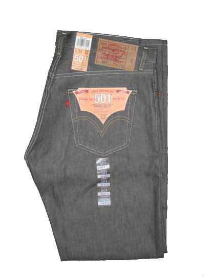 Levis 501 Jeans - Grey Rigid - Shrink-To-Fit (0631)