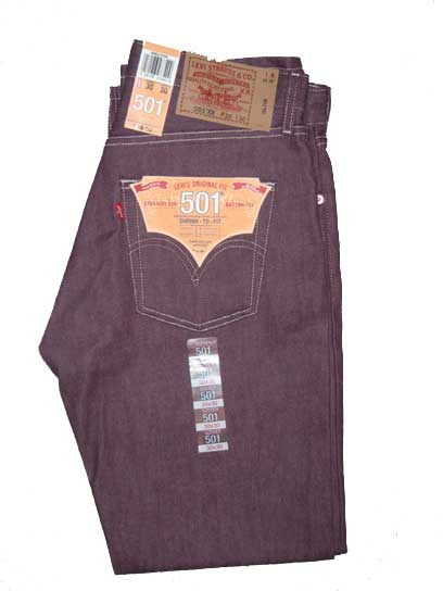 Levis 501 Jeans - Purple Rigid Shrink-To-Fit (0759)