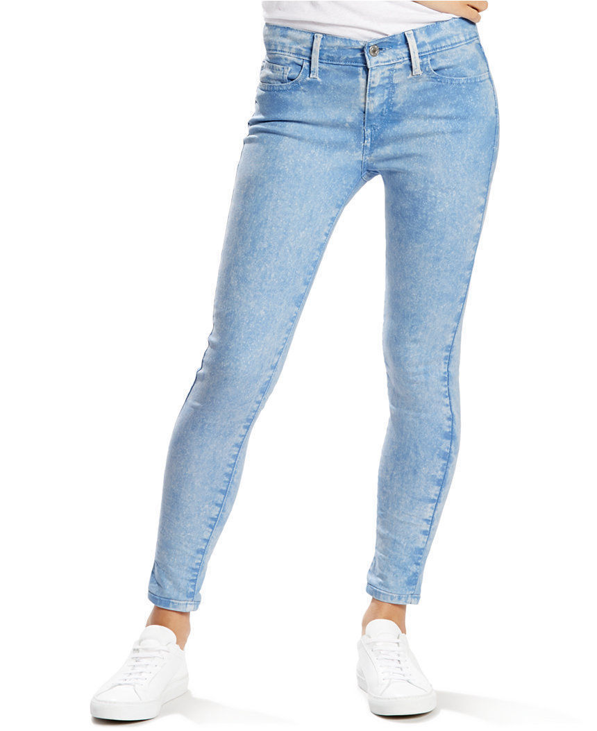 Levi's Juniors 710 Legging Jean - RIPPLED BLUE (0081)
