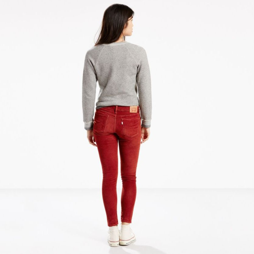 Levi's Juniors 710 Legging Jean - Russet Brown Corduroy (0114)