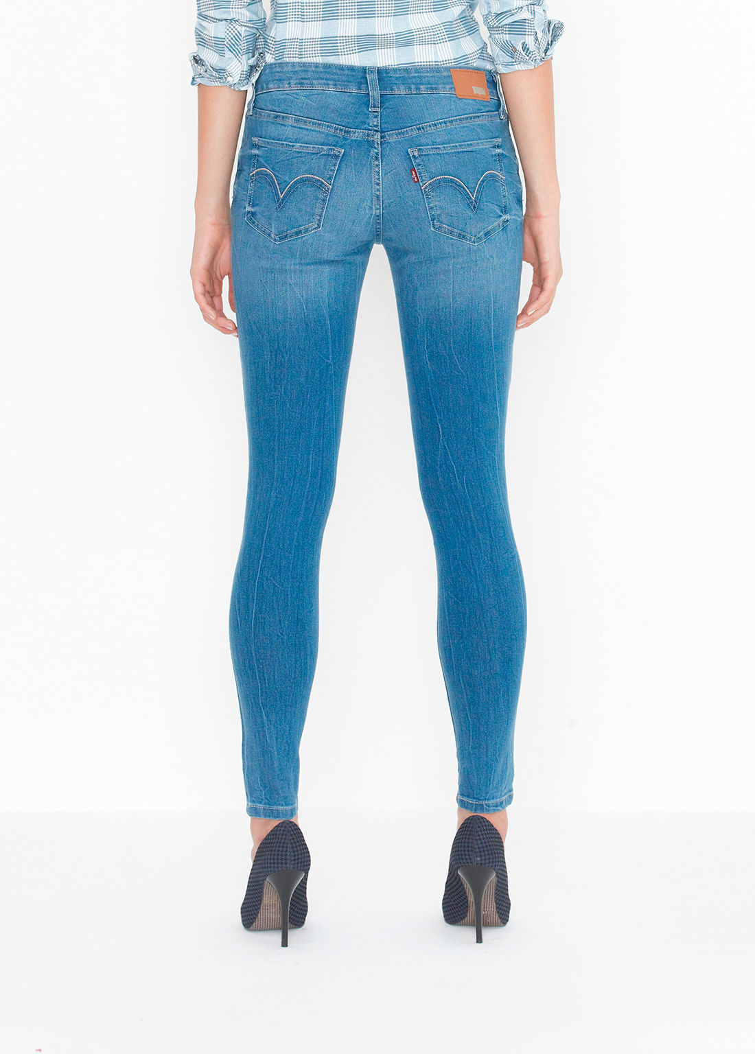 Levi's Juniors 535 Legging Jean - Blue Crackle (0150)