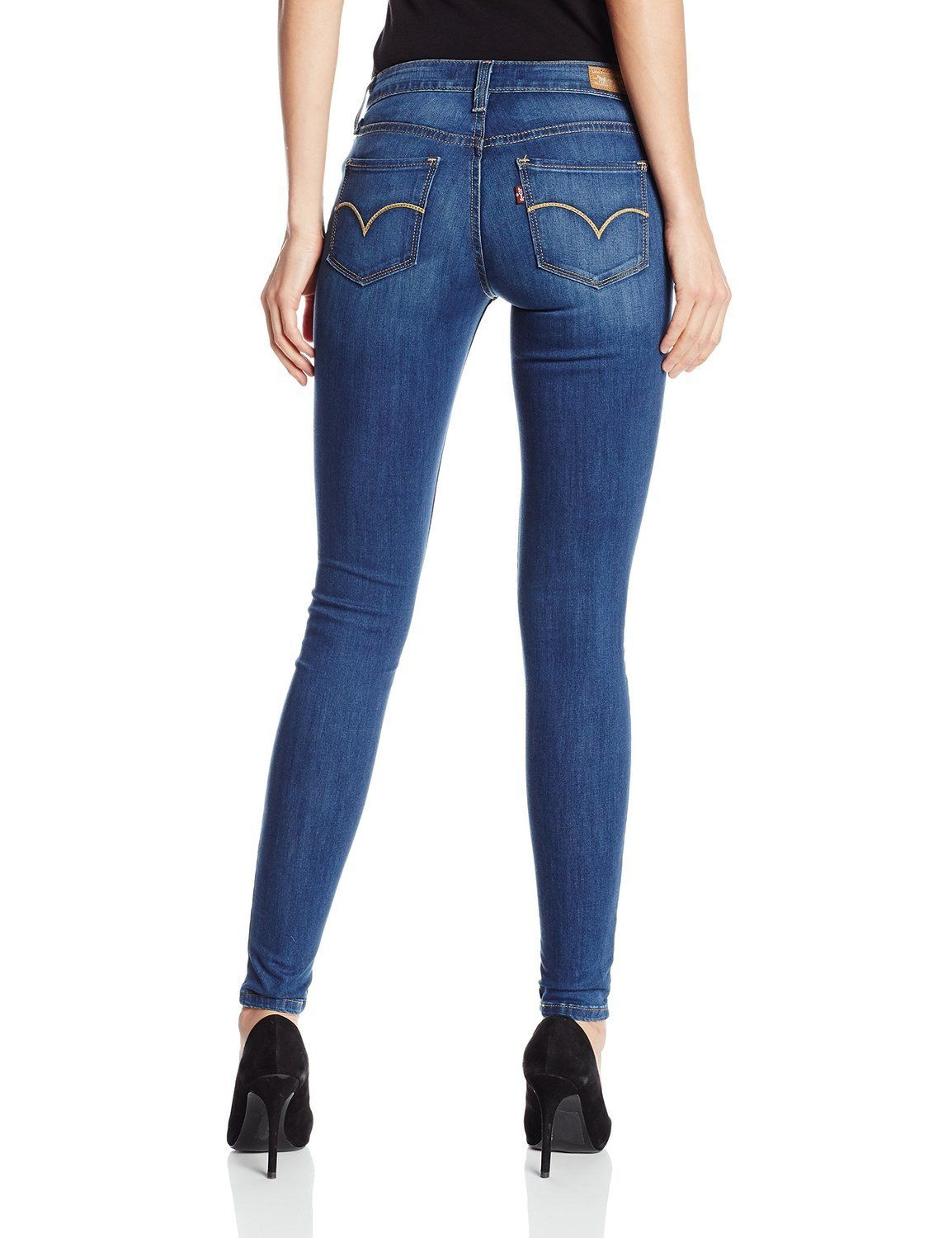 Levi's Juniors 535 Legging Jean - Indigo Falls (0193) - Click Image to Close