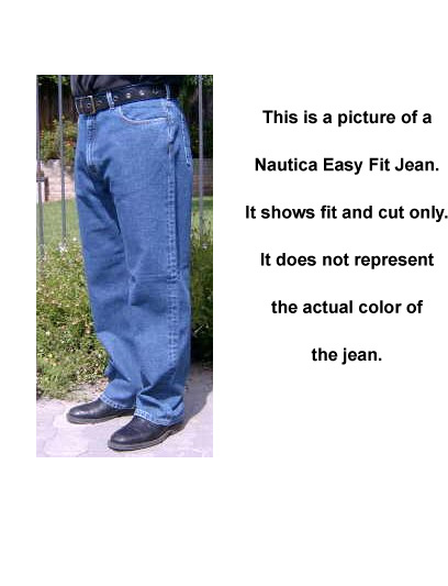 Nautica Easy Fit Jean : Rinsed Blue (Dark Denim)